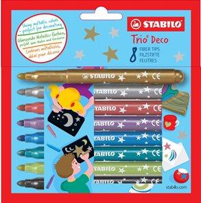 STABILO TRIO DECO Metalický vláknový fix - sada 8 barev