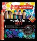 STABILO Woody Pastelky 3 v 1 ARTY line - 6 barev