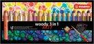 STABILO Woody Pastelky 3 v 1 ARTY line - 18 barev