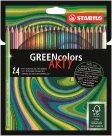 STABILO GREENcolors Pastelky ARTY line - 24 barev