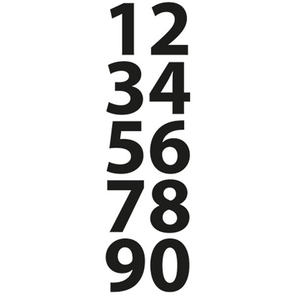Vyřezávací kovová šablona Craftables - Čísla mini (1ks)
