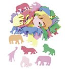 Výřezy z pěnovky - Zvířátka (60ks)