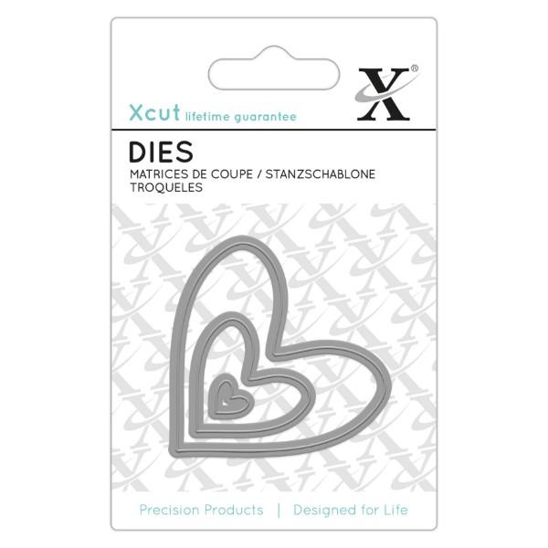 Vyřezávací kovové šablony Xcut - Srdce (3ks)