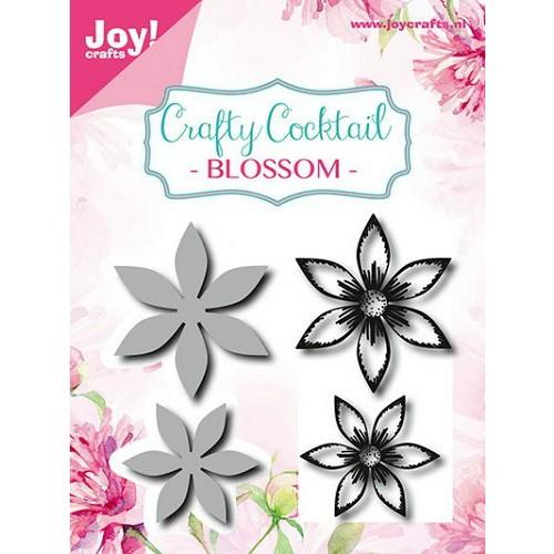 Vyřezávací a embosovací kovové šablony Joy Crafts - Květiny (2ks) + silikonová gelová razítka (2ks)