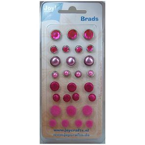 Hřebíčky na scrapbook růžové (28ks)