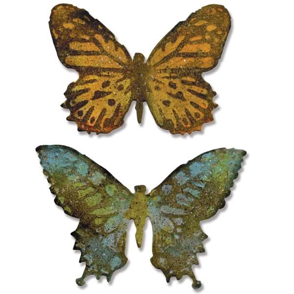 Vyřezávací šablona Bigz + embosovací kapsa - Dva motýlci