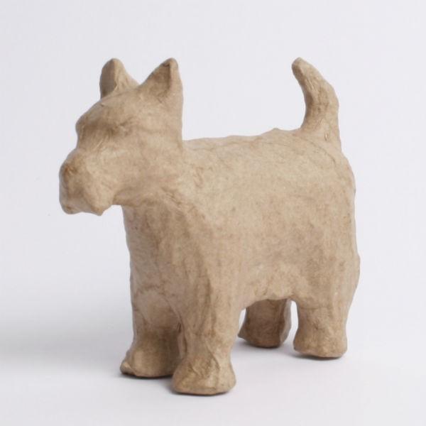 Kartonový pes West terier 10,5 x 8,5 x 3,5cm