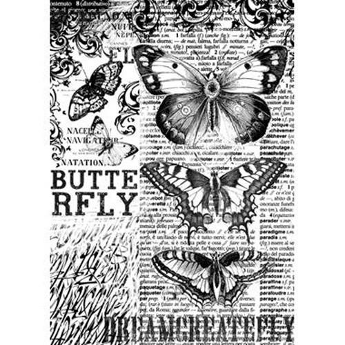 Rýžový papír A4 - Motýl
