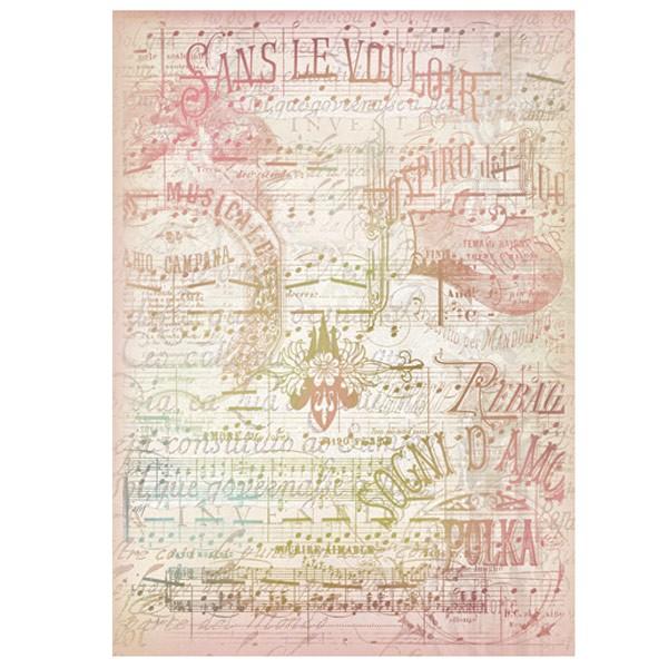 Rýžový papír A4 - List s notami
