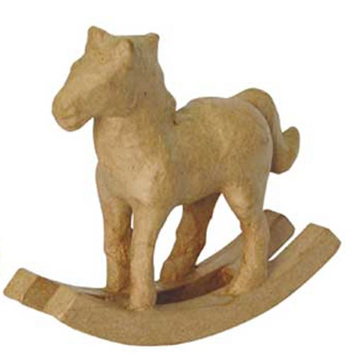 Kartonový houpací kůň 15,5 x 12 x 4cm