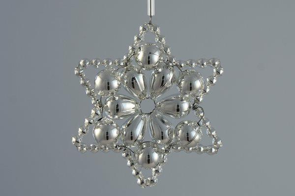 Sada na výrobu ozdoby z perliček - Huderovka - stříbrná
