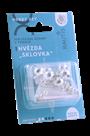 Sada na výrobu ozdoby z perliček - Sklovka - stříbrná/bílá