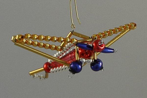 Sada na výrobu ozdoby z perliček - Letadlo - barevné
