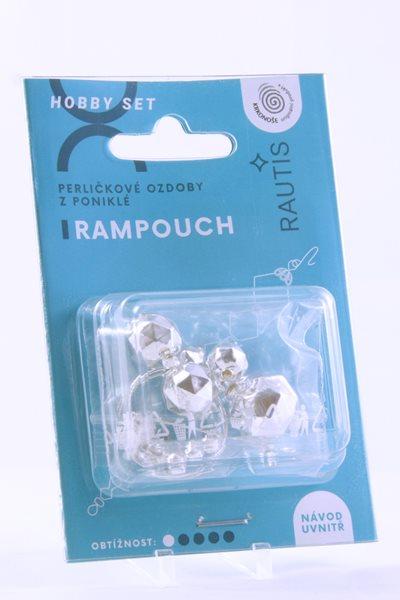 Sada na výrobu ozdoby z perliček - Rampouch - stříbrný