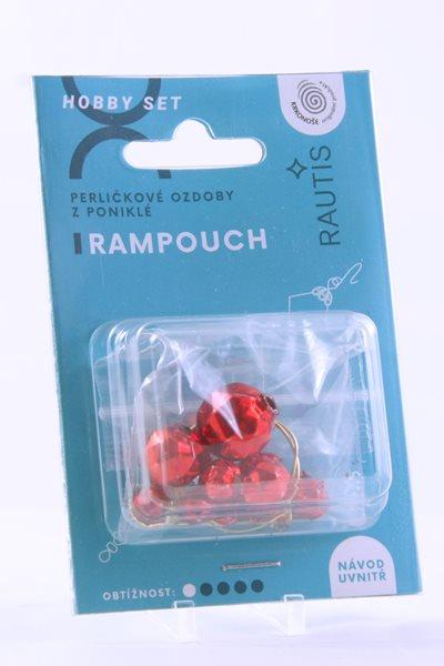 Sada na výrobu ozdoby z perliček - Rampouch - červený