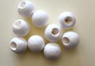 Vatová hlava s otvorem bílá - 10 kusů