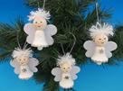 Anděl zvonek - bílý závěs, sada na výrobu - 4 ks