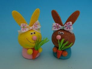 Sada na výrobu zajíce s mrkví - 2 ks