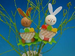 Sada na výrobu - zajíc s ošatkou vajec - 2 ks