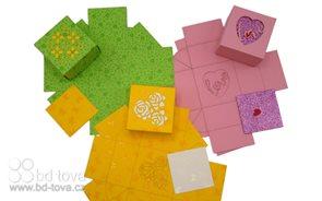Krabičky dvoudílné - barevné 3ks/mix