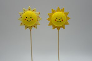 Sluníčko z kartonu - zápich, 1 ks (mix motivů)