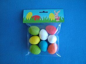 Vajíčka barevná střední - 8 ks