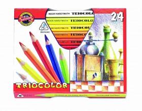 Koh-i-noor pastelky 3154 TRIOCOLOR - 24 barev