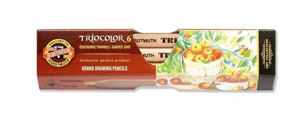 Koh-i-noor Pastelky TRIOCOLOR 3151 JUMBO - přírodní - 6 barev