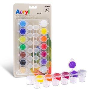 Akrylové barvy Primo - sada 14 x 4,5 ml