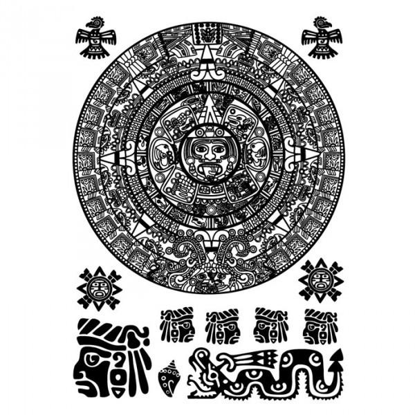 Nažehlovací obrázek A4 - Aztécký kalendář