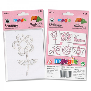Papírové šablony - Léto - 6 ks