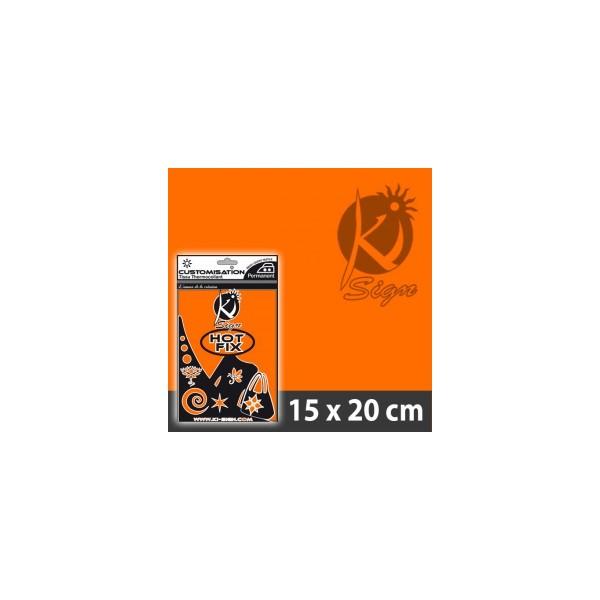 Nažehlovací fólie HOT FIX - FLUO oranžová