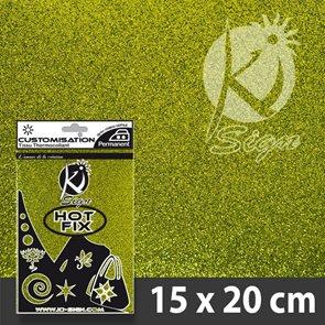 Nažehlovací fólie HOT FIX - třpytivá světle zelená