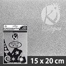 Nažehlovací fólie HOT FIX - třpytivá stříbrná