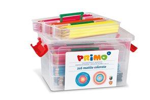 Dřevěné pastelky PRIMO - 216 ks - v plastovém boxu