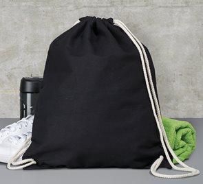 Bavlněný batoh k domalování - barva černá