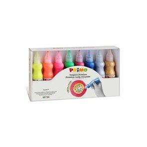 Temperové 3D barvy PRIMO, sada 8 x 50 ml - FLUO + METAL