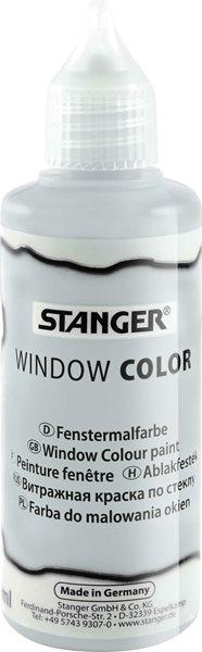 Barva na sklo STANGER 80 ml, stříbrná