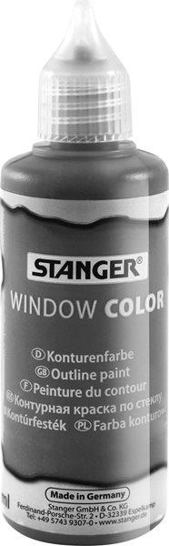 Kontura na sklo STANGER 80 ml, grafitová