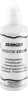 Kontura na sklo STANGER 80 ml, bílá