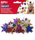 Samolepicí pěnové výseky - Hvězdy, mix metalických 5 barev, 50 ks