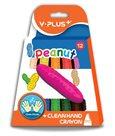Plastové pastelky PEANUT - 12 barev