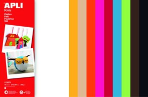 APLI Dekorační filc 210 x 297 mm, mix barev, 10 ks