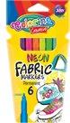 Fixy na textil Colorino - neonové, permanentní - 6 barev