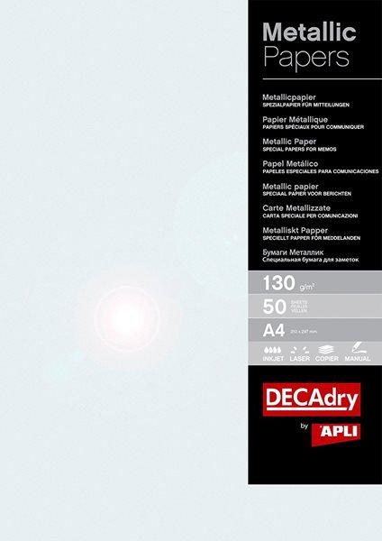 APLI Metalický papír A4 130 g - perleťový