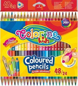 Trojhranné pastelky Colorino - 48 barev / 24 pastelek