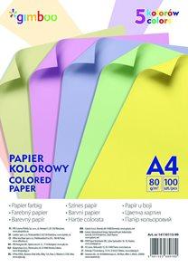 Barevné papíry A4 80 g - pastelový mix, 100 listů