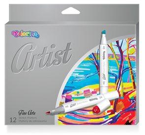 Colorino Artist Oboustranné skicovací fixy, 12 barev