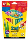 Fixy Colorino oboustranné, štětcový a tenký hrot - 12 barev