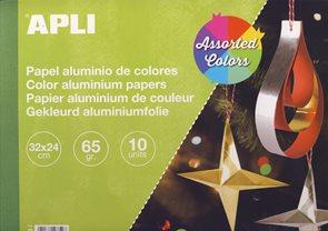APLI Metalický papír 65 g - mix barev